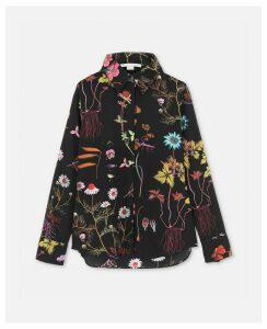 Stella McCartney Black Willow Floral Shirt, Women's, Size 14