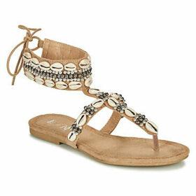 Elue par nous  GLASGOW  women's Sandals in Beige