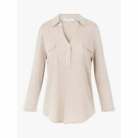 Gerard Darel June Linen Top, Beige