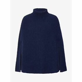 Winser London Lauren Rib Wool Blend Poncho