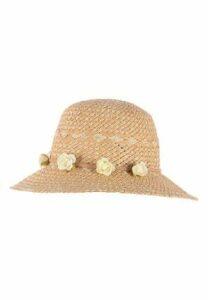 Womens Flower Garland Straw Hat