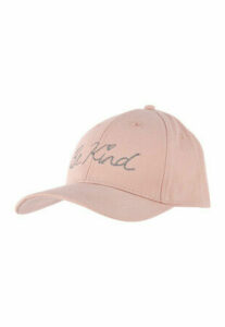 Womens Pink Be Kind Slogan Cap
