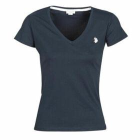 U.S Polo Assn.  BELLA V TEE SS  women's T shirt in Blue