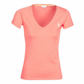 U.S Polo Assn.  BELLA V TEE SS  women's T shirt in Pink