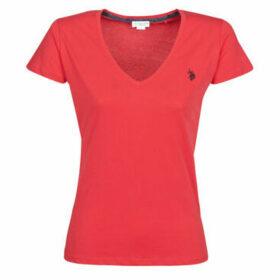 U.S Polo Assn.  BELLA V TEE SS  women's T shirt in Red