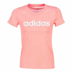 adidas  E LIN SLIM T  women's T shirt in Pink
