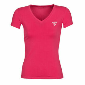 Guess  SS VN MINI TRIANGLE TEE  women's T shirt in Pink