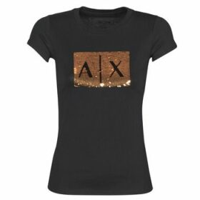 Armani Exchange  HONEY  women's T shirt in Black