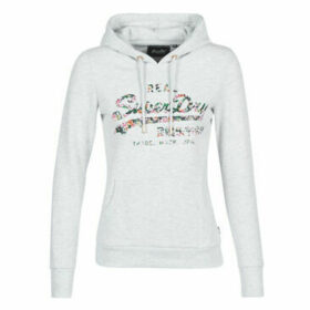 Superdry  VL GLOSS FLORAL ENTRY HOOD  women's Sweatshirt in Grey