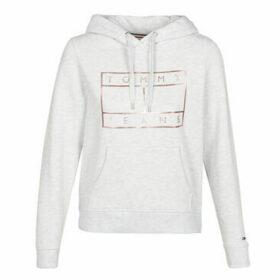 Tommy Jeans  TJW ESSENTIAL LOGO HOODIE  women's Sweatshirt in Grey