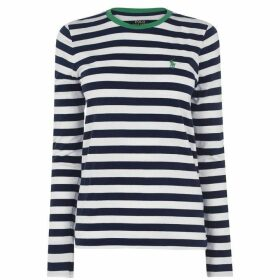 Polo Ralph Lauren Polo Womens Long Sleeve Striped T-Shirt
