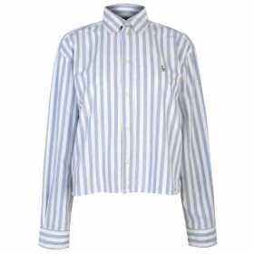 Polo Ralph Lauren Cropped Stripy Long Sleeve Shirt