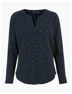 M&S Collection Pure Cotton Polka Dot Blouse