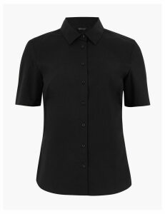 M&S Collection Cotton Fitted Short Sleeve Shirt