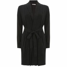 Mint Velvet Black Belted Longline Cardigan