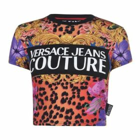 Versace Jeans Couture Baroque Cropped T Shirt