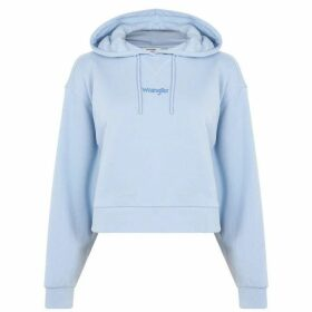 Wrangler Cropped OTH Hoodie - Cashmere Blue
