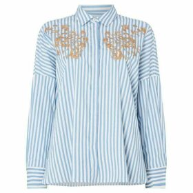 Marella Oidio long sleeve embroided shirt - Multi-Coloured