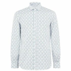 Diesel Print Shirt - White/Blue 100