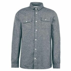 Jack Wills Barberry Jaspe 2 Pocket Shirt - Dark Green