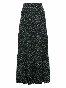 Women's Ladies floral tiered maxi skirt