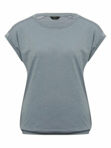Women's TOP SS LAVE TRIM BUBBLE HEM
