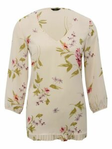 Women's Ladies pleat back floral top