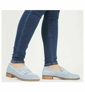 Office Friendship- Soft Loafer PALE BLUE SUEDE