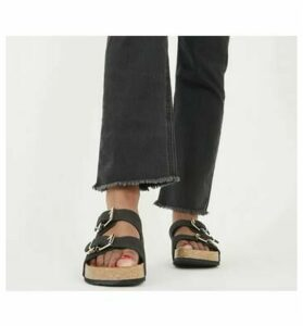 Office Smash - Footbed Sandal BLACK NUBUCK