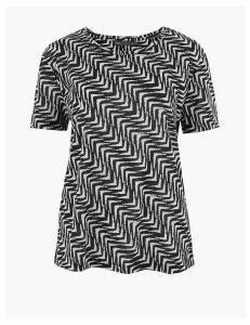 M&S Collection Printed Relaxed T-Shirt