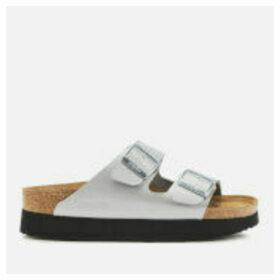 Birkenstock Women's Papillio Arizona Pure Metallic Flatform Sandals - Metallic Silver