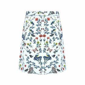 Knee-Length Floral Printed Skirt
