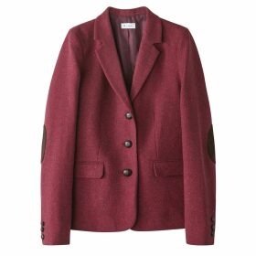 Fitted Blazer with Elbow Pads