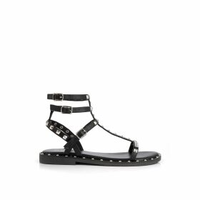 Cassie Leather Studded Gladiator Sandals