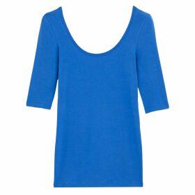 Cotton Scoop-Neck T-Shirt