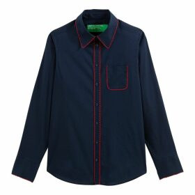 Cotton Mix Buttoned Shirt