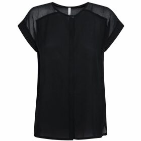 Short-Sleeved Blouse with Shoulder Detail