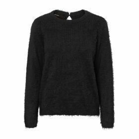 Fuzzy Round Neck Jumper