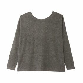 Fine Knit Jumper with Crossed Back