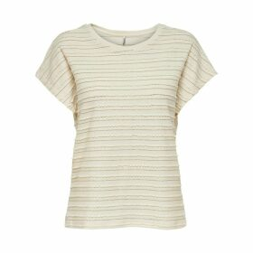 Metallic Textured Seam T-Shirt