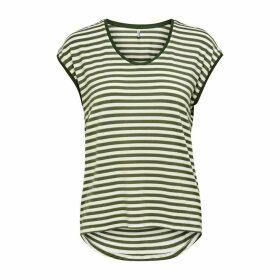 Crew-Neck Striped T-Shirt