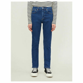 Mid-rise stretch-denim jeans