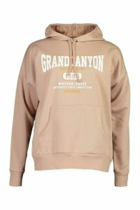 Womens Grand Canyon Basic Hoodie - Beige - 14, Beige
