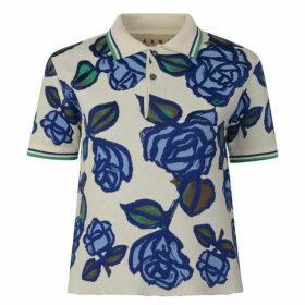 Marni Floral Polo Sweatshirt