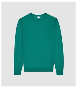 Reiss Wessex - Merino Wool Jumper in Teal, Mens, Size XXL
