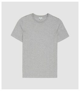 Reiss Brady - Crew Neck T-shirt in Soft Grey, Mens, Size XXL