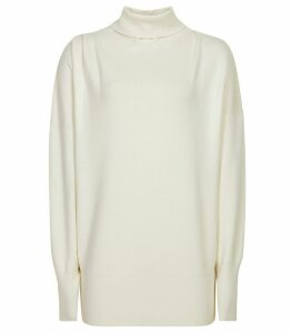 Reiss Kym - Rollneck Jumper in Off White, Womens, Size XXL