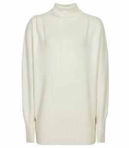 Reiss Kym - Rollneck Jumper in Off White, Womens, Size XXL