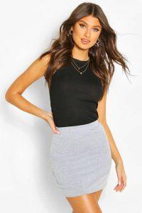 Womens Basic Jersey Mini Skirt - Grey - 10, Grey