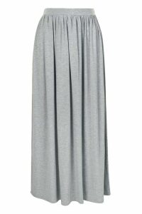 Womens Basic Floor Sweeping Jersey Maxi Skirt - Grey - 14, Grey